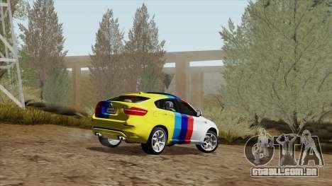 BMW X6M para GTA San Andreas interior
