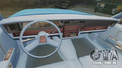 Chevrolet Caprice 1987 LCPD para GTA 4 vista de volta