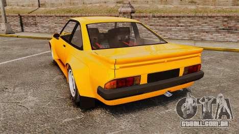 Opel Manta para GTA 4 traseira esquerda vista