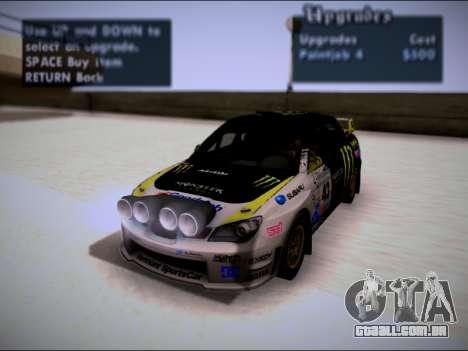 Subaru Impreza WRX STI WRC para vista lateral GTA San Andreas