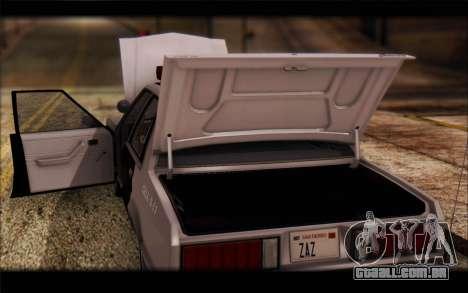 Ford Fairmont 1978 4dr Police para GTA San Andreas vista interior