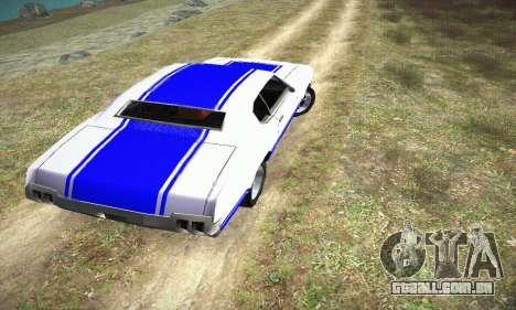 GTA IV Sabre Turbo para GTA San Andreas esquerda vista