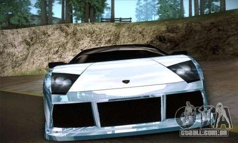 Lamborghini Murcielago GT Coloured para GTA San Andreas vista interior