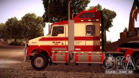 Kenworth RoadTrain T800 para GTA San Andreas traseira esquerda vista
