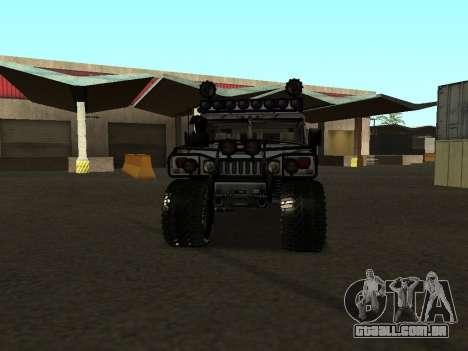 Hummer H1 Offroad para GTA San Andreas vista traseira