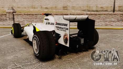 Brawn BGP 001 2009 para GTA 4 traseira esquerda vista
