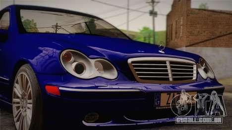 Mercedes-Benz C320 Elegance 2004 para GTA San Andreas traseira esquerda vista