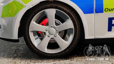 Ford Focus Estate Norfolk Constabulary [ELS] para GTA 4 vista de volta