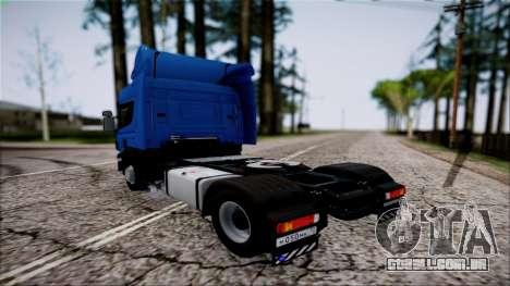 Scania P400 para GTA San Andreas esquerda vista
