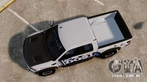 Ford F-150 SVT Raptor 2011 ECOBoost para GTA 4 vista direita