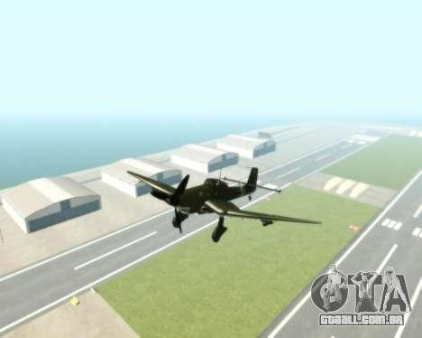 Junkers Ju-87 Stuka para GTA San Andreas vista direita
