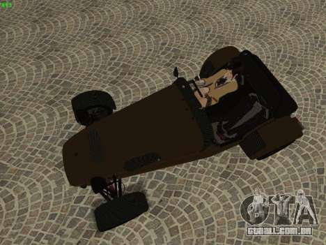 Caterham 7 Superlight R500 para vista lateral GTA San Andreas