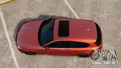 BMW M135i 2013 para GTA 4 vista direita