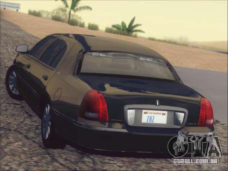 Lincoln Town Car 2010 para GTA San Andreas interior