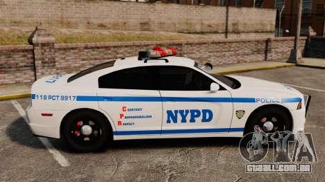Dodge Charger 2012 NYPD [ELS] para GTA 4 esquerda vista