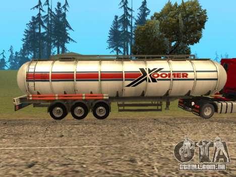 Tanque Xoomer para GTA San Andreas esquerda vista