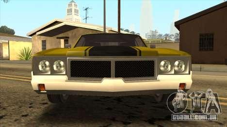 Sabre HD from GTA 3 para GTA San Andreas traseira esquerda vista