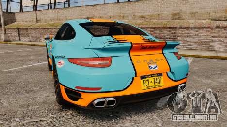 Porsche 911 Turbo 2014 [EPM] Gulf para GTA 4 traseira esquerda vista