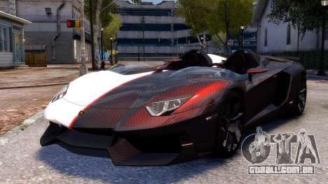 Lamborghini Aventador J 2012 Carbon para GTA 4 traseira esquerda vista