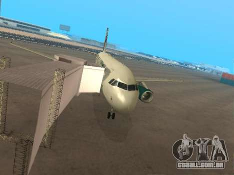 Airbus A319-111 Frontier Airlines Red Foxy para GTA San Andreas vista inferior