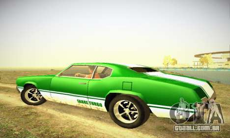 GTA IV Sabre Turbo para GTA San Andreas vista traseira