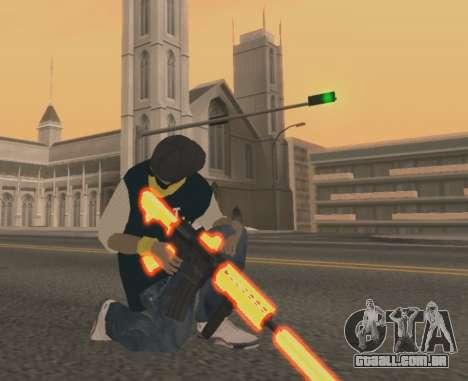 Vagos Gun Pack para GTA San Andreas segunda tela