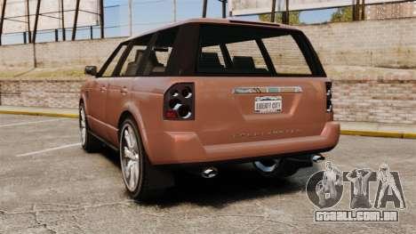 GTA V Gallivanter Baller 2 para GTA 4 traseira esquerda vista