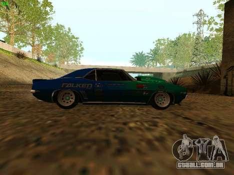 Chevrolet Camaro z28 Falken edition para GTA San Andreas vista direita