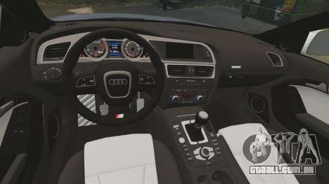 Audi S5 Convertible 2012 para GTA 4 vista de volta