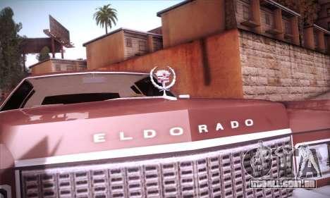 Cadillac Eldorado 1978 Coupe para GTA San Andreas vista superior