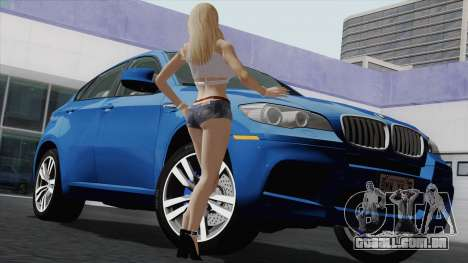 BMW X6M para GTA San Andreas vista superior