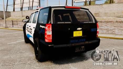 Chevrolet Tahoe Police [ELS] para GTA 4 traseira esquerda vista