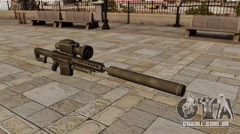 Barrett M82A1 rifle sniper com silenciador para GTA 4