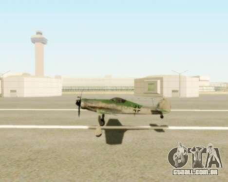 Focke-Wulf FW-190 D12 para GTA San Andreas vista direita