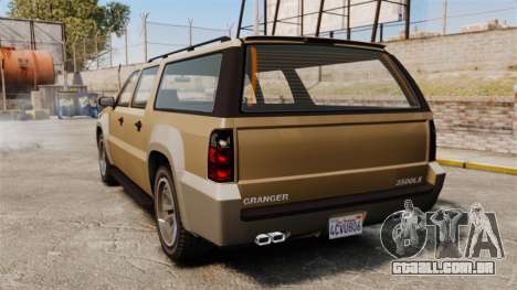 GTA V Declasse Granger 3500LX para GTA 4 traseira esquerda vista