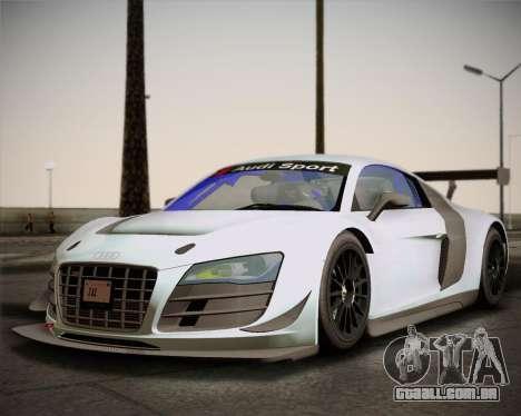 Audi R8 LMS Ultra v1.0.1 DR para GTA San Andreas esquerda vista