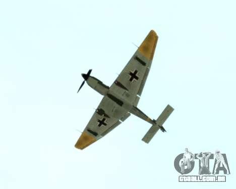 Junkers Ju-87 Stuka para GTA San Andreas vista traseira