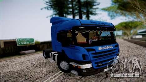 Scania P400 para GTA San Andreas vista interior