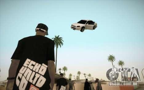 Congelar o carro no ar para GTA San Andreas terceira tela