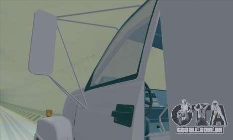 GMC C550 Topkick Trashmaster para GTA San Andreas vista interior