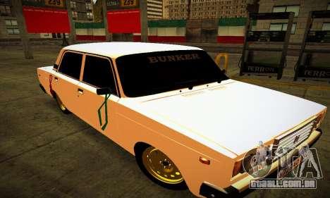 VAZ 2107 BUNKER para GTA San Andreas vista traseira