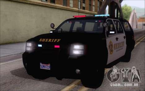Um jipe da polícia de GTA V para GTA San Andreas