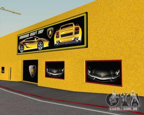 Lamborghini Dealer San Fierro para GTA San Andreas sexta tela
