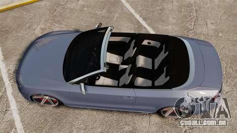 Audi S5 Convertible 2012 para GTA 4 vista direita