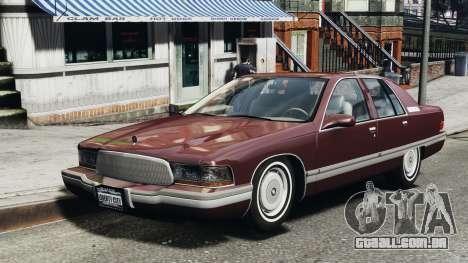 Buick Roadmaster 1996 para GTA 4 esquerda vista