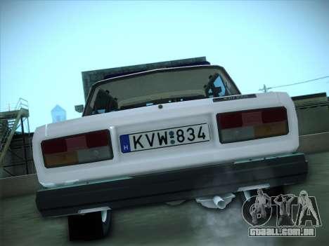 Lada 2107 Rendőrség para GTA San Andreas vista direita