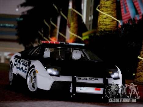 Lamborghini Murciélago polícia 2005 para GTA San Andreas vista direita