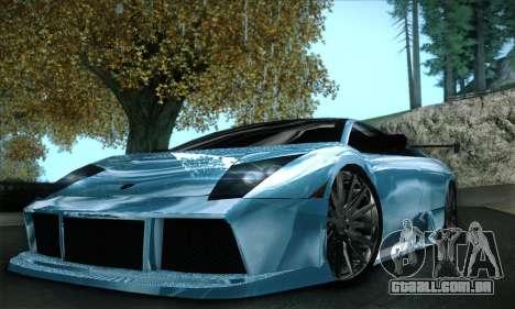 Lamborghini Murcielago GT Coloured para GTA San Andreas vista inferior