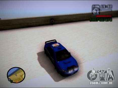 Subaru Impreza WRX STI WRC para GTA San Andreas traseira esquerda vista
