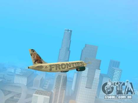 Airbus A319-111 Frontier Airlines Red Foxy para GTA San Andreas
